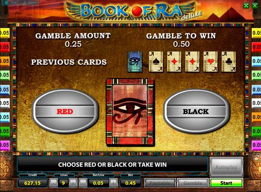 Рискът от игра на слот машина Book of Ra deluxe